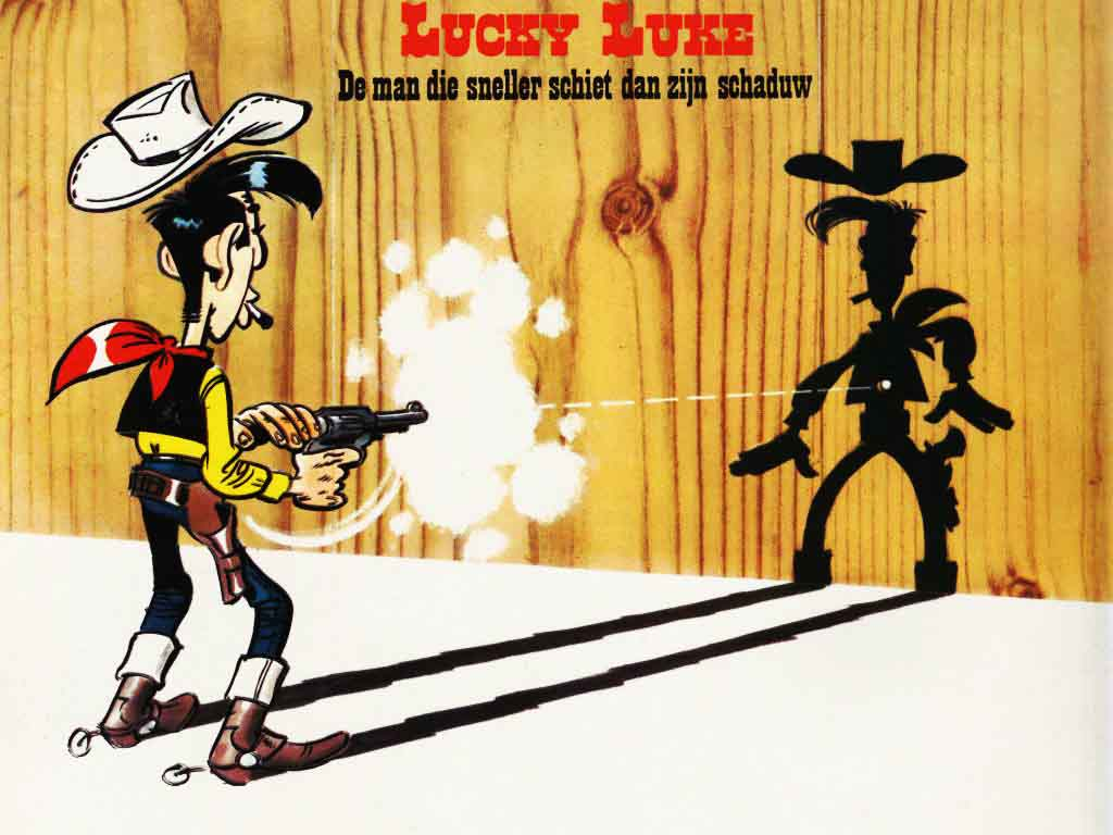 Lucky Luke Shooting Faster than the Shadow